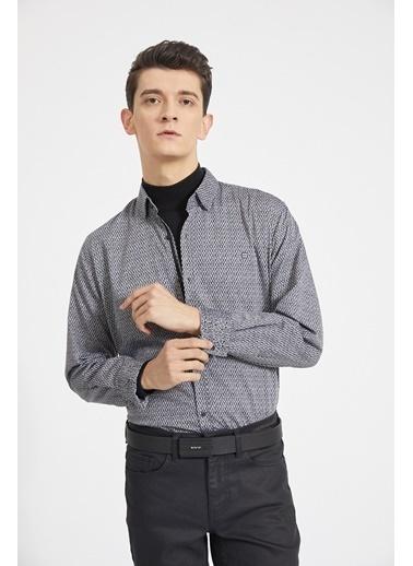 Avva Erkek  Baskılı Gömlek A02Y2159 Gri
